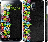 """Чехол на Samsung Galaxy S5 Duos SM G900FD цветочный орнамент """"2390c-62"""""""