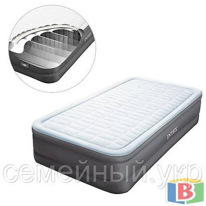 Надувная кровать Intex 64482 Размер; 99 х 191 х 46 Функция автоподкачки Встроенный электронасос PremAire, фото 2