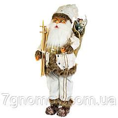 Дед Мороз под елку, Санта Клаус лыжник 56 см