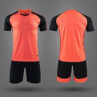 Футбольная форма игровая для команды 2019 (Оранжево-Черная), фото 1