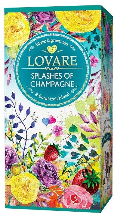 Ловаре чай черный с зеленым Брызги шампанского в пакетиках 25 шт.