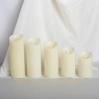 Набор электронных свечей с имитацией пламени (5 шт)