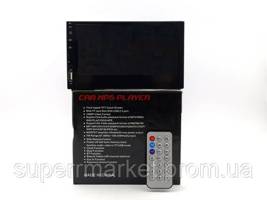 "Car Pioneer 7021 Bluetooth автомагнитола 2din 7"" fm mp3 usb 200W, копия, фото 2"