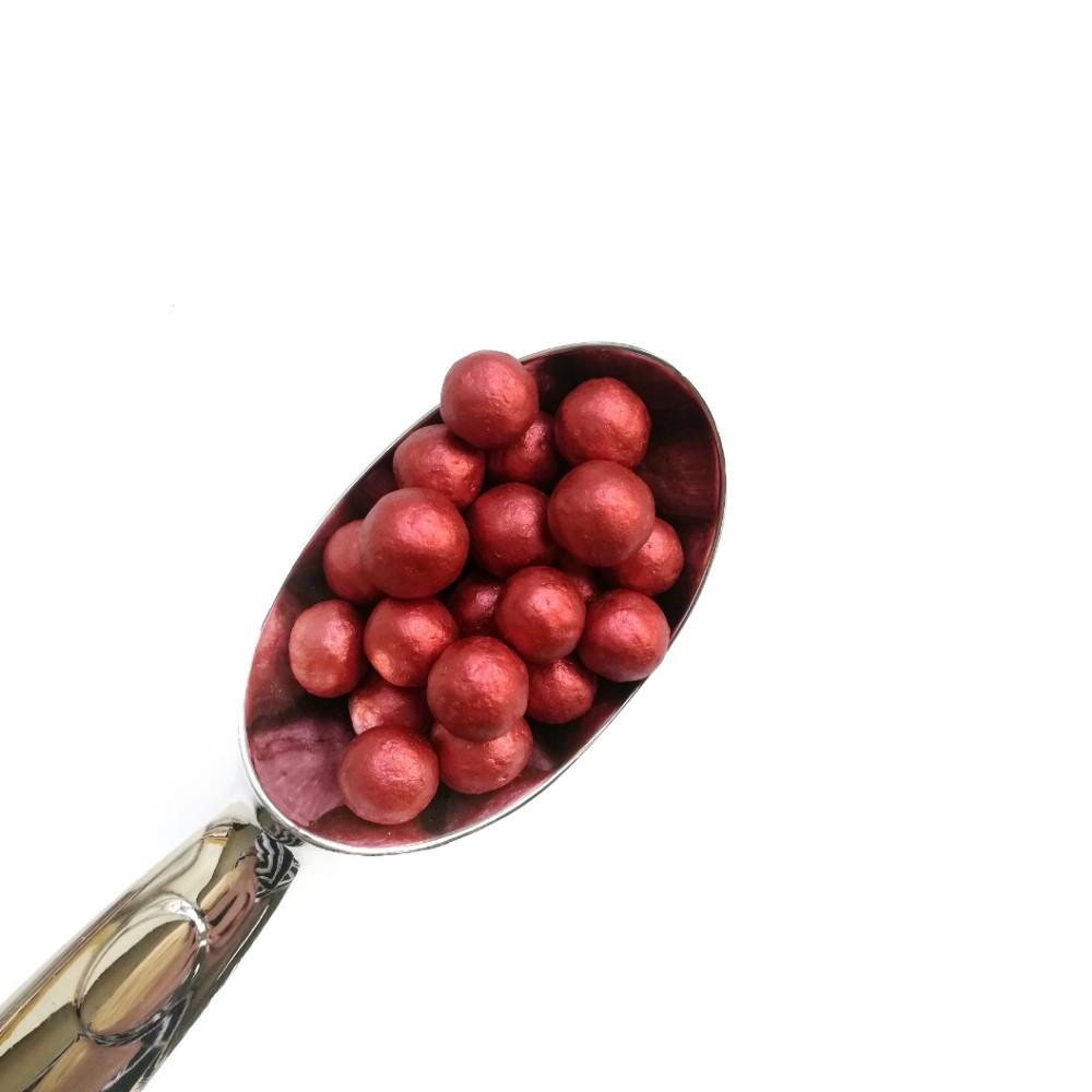 Жемчужины перламутровые красные 10мм (25г)