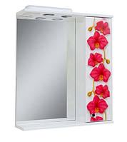 Зеркало для ванной 60-01 правое Орхидея (новинка)