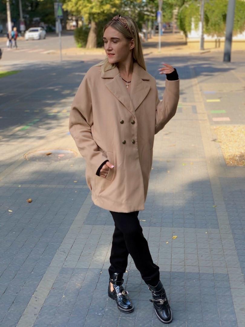 """Женское кашемировое пальто """"Mella"""" с карманами (3 цвета)"""