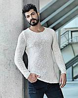 Кофта мужская стильная бежевого цвета с рукавом реглан