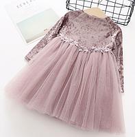Платье детское с фатином 90, 100,  120, 130