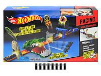 Трек 3091 Hot Wheels крокодил с метал.машинками