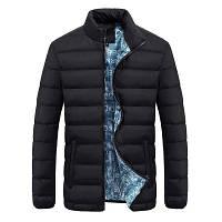Мужская Куртка Короткая Осень-Весна XXL (MO0723) Черная