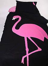 """Детский постельный комплект белья с аппликацией """"Фламинго"""""""