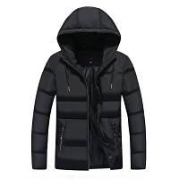 Мужская Куртка Короткая Осень-Весна XXL (MO862) Черная