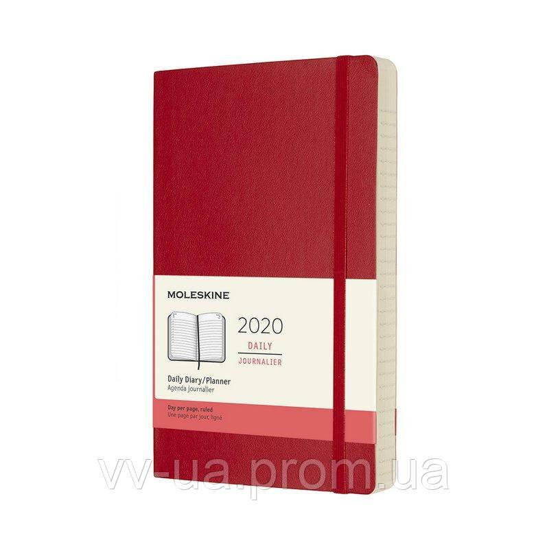 Ежедневник Moleskine 2020 средний, мягкая обл., красный