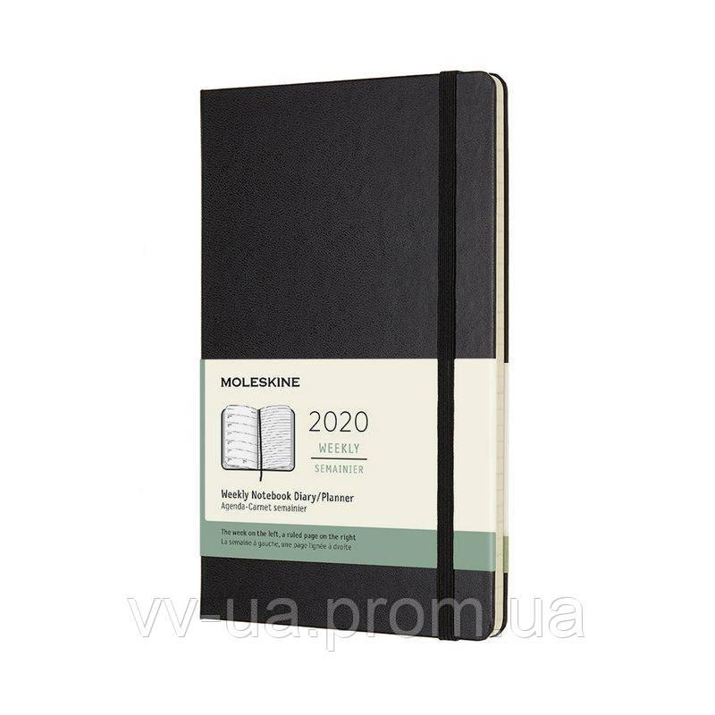 Еженедельник Moleskine 2020 средний, твердая обл., черный (DHB12WN3Y20)
