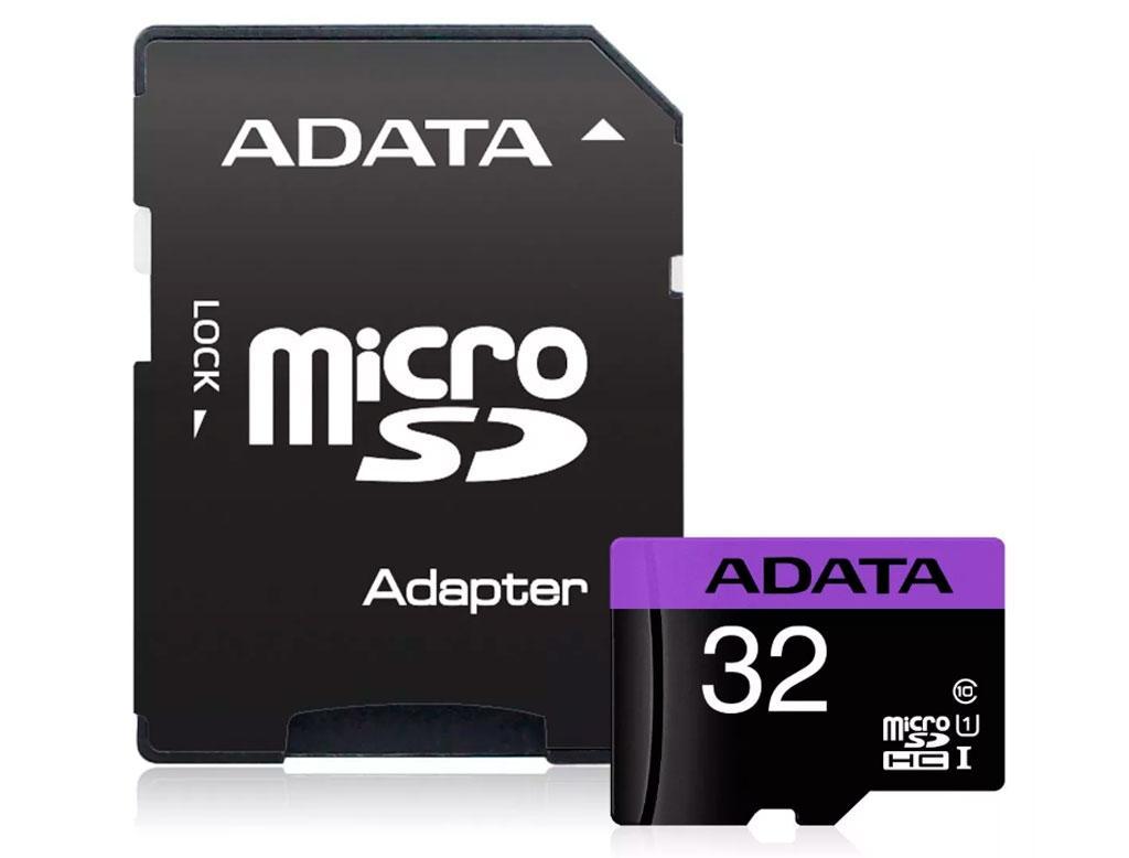 Карта пам'яті A-DATA 32Gb microSDHC Ultra UHS-I +SD адаптер Class 10 (AUSDH32GUICL10-RA1)