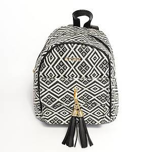 Рюкзак женский в разных цветах AR-027 черно-белый