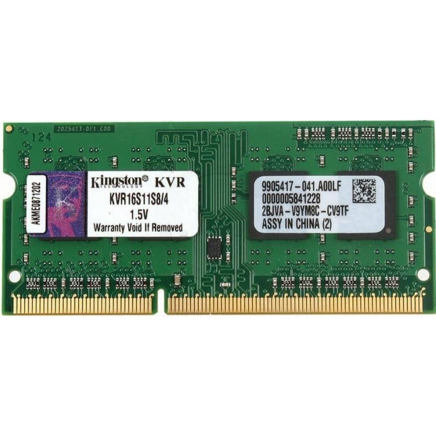 Оперативная память  Kingston 4 GB SO-DIMM DDR3 1600 MHz (6403476)