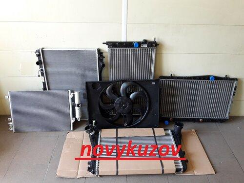 Радиатор кондиционера на Fiat Doblo