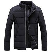Мужская Куртка Короткая Осень-Весна XL (50-52) (MO909) Черная