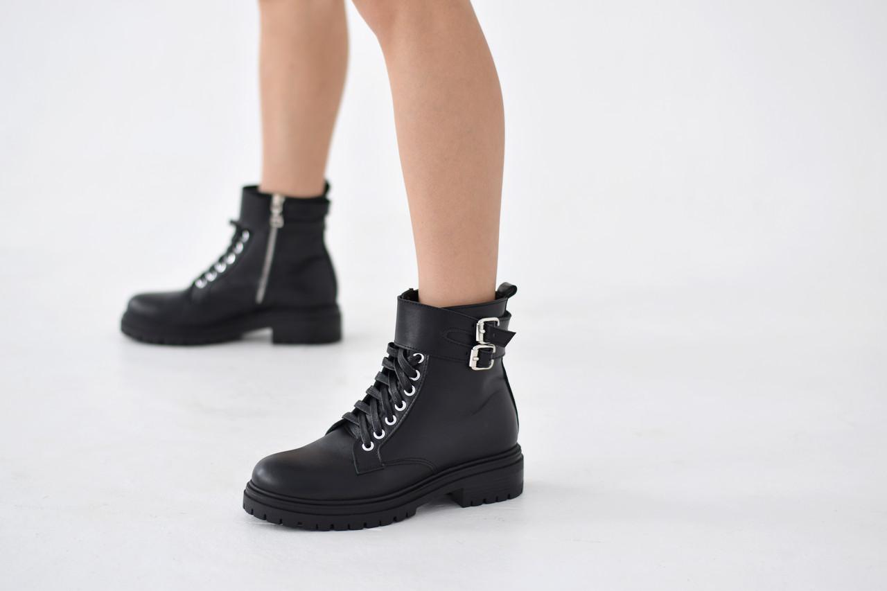 Кожаные ботинки берцы Abbi