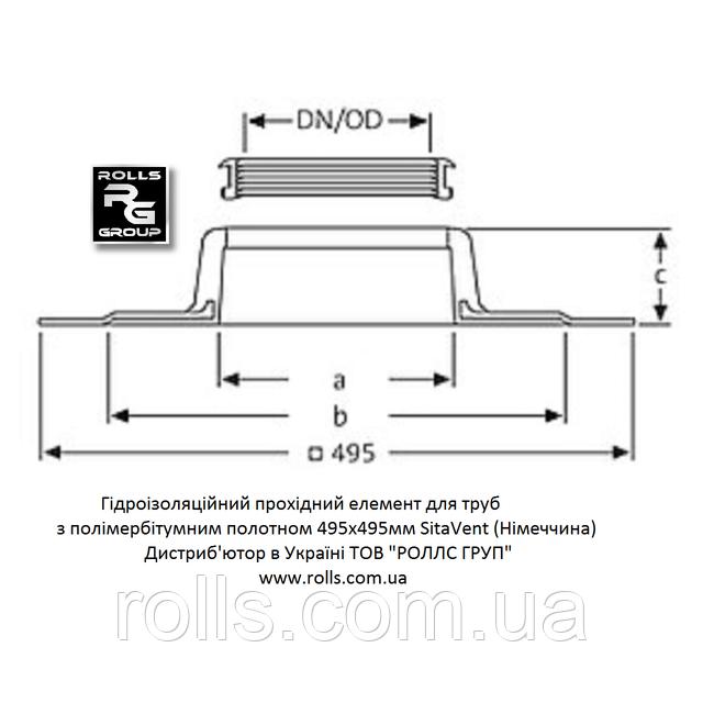 HL800/160 Гидроизоляционная мембрана с полимербитумным полотном HL800 Эластичная уплотнительная мембрана для герметичной заделки отверстий между трубопроводом и строительными конструкциями гидроизоляция инженерных коммуникаций SitaVent DN160 175800