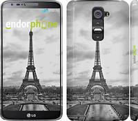 """Чехол на LG G2 Чёрно-белая Эйфелева башня """"842c-37"""""""