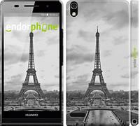 "Чехол на Huawei Ascend P6 Чёрно-белая Эйфелева башня ""842c-39"""