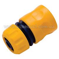 Коннектор пластиковый 3/4 с клапаном