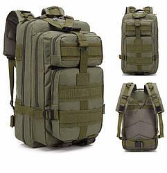 Тактический походный рюкзак Military 25 литров хаки