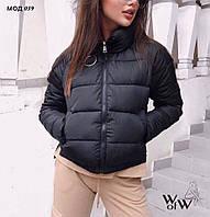 Куртка женская весна - осень. Цвет: чёрный, красный, хаки