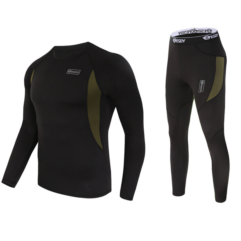 Термобелье мужское ESDY A152 XXXL Black термокомплект функциональное белье для мужчин флисовый ветрозащитный