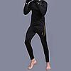 Термобелье мужское ESDY A152 XXXL Black термокомплект функциональное белье для мужчин флисовый ветрозащитный, фото 3