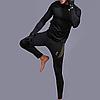 Термобелье мужское ESDY A152 XXXL Black термокомплект функциональное белье для мужчин флисовый ветрозащитный, фото 4