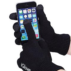 ➤Перчатки для сенсорных экранов iGlove Black теплые для современных смартфонов планшетов iPhone iPad