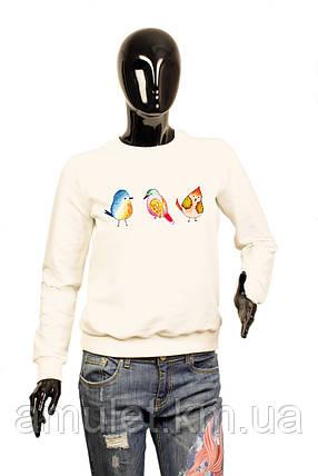 """Світшот жіночий з малюнком """"Пташки"""", фото 2"""