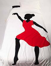 """Детский постельный комплект белья с аппликацией """"Танцовщица"""""""
