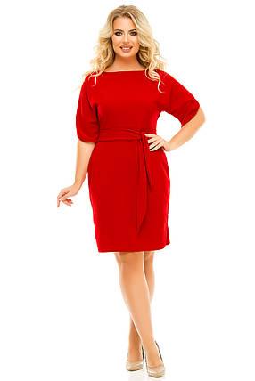 Платье 5616 красный, фото 2