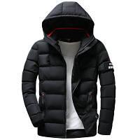 Мужская Куртка Короткая Зима-Осень L (48) (MO1835) Черная