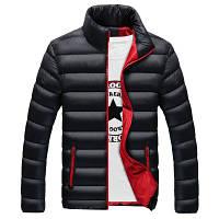 Мужская Куртка Короткая Осень-Весна M (46-48) (MO8018) Черная