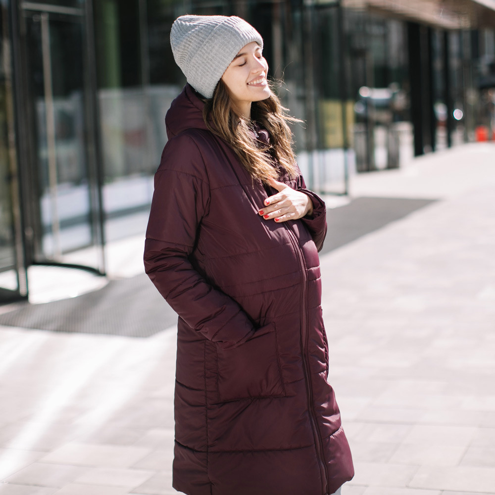 Зимняя слингокуртка Love&carry (Лав энд керри) Марсала, зима 2019-2020