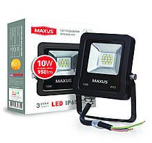 Прожектор 10W 5000K зручний монтаж гартоване скло IP65 Maxus