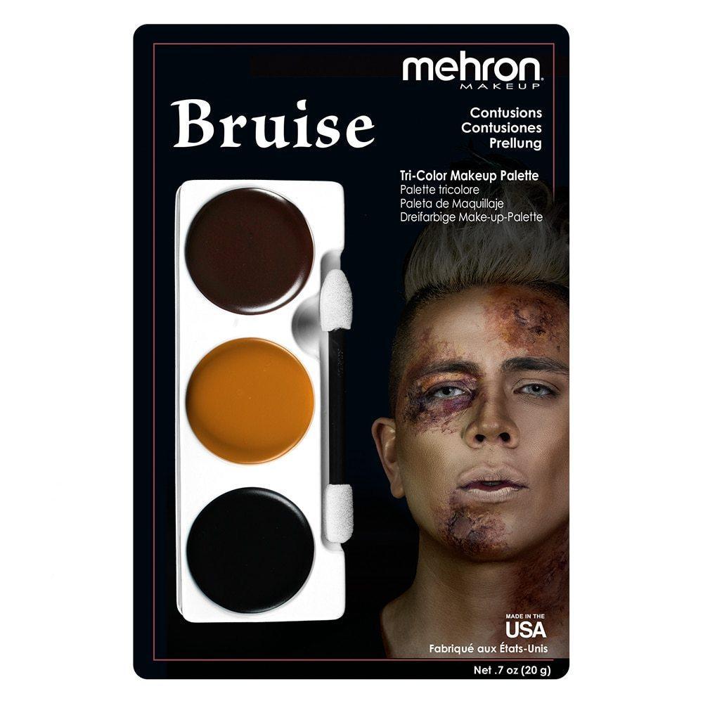 """MEHRON Набір кремового гриму для образу """"Синці і забої"""" Tri-Color Makeup Palette (Bruise), 20 г"""