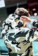 Анорак - F&F (white camo), спортивная куртка, куртка для туризма, ветровка, штормовка, для альпинизма