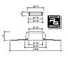SitaVent герметичный проход для труб DN110 гидроизоляция 495x495мм Bauder ПВХ мембрана Пароизоляционная плата, фото 2