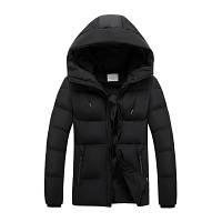 Мужская Куртка Короткая Зима-Осень XXXXL (MO9333) Черная