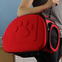 Переноска для животных Happy Paw. Переноска для кошек, собак и небольших животных до 7 кг Красная, фото 1