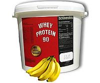 (Оригинал) Протеин ACTIVEVITES Whey Protein 90 4000g  банан