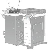JS-602 Дополнительный лоток для бумаги емкостью до 100 лист. до финишеру FS-535 (несовместимый с PI-505)