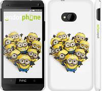 "Чехол на HTC One M7 Миньоны 4 ""301c-36"""