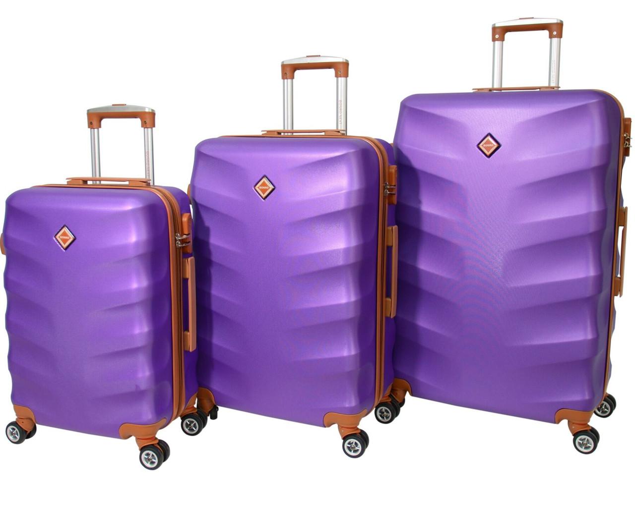 Дорожные чемоданы Bonro Next набор 3 штуки фиолетовый